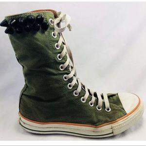 Converse All Star Studded X Hi Top Green Orange 8